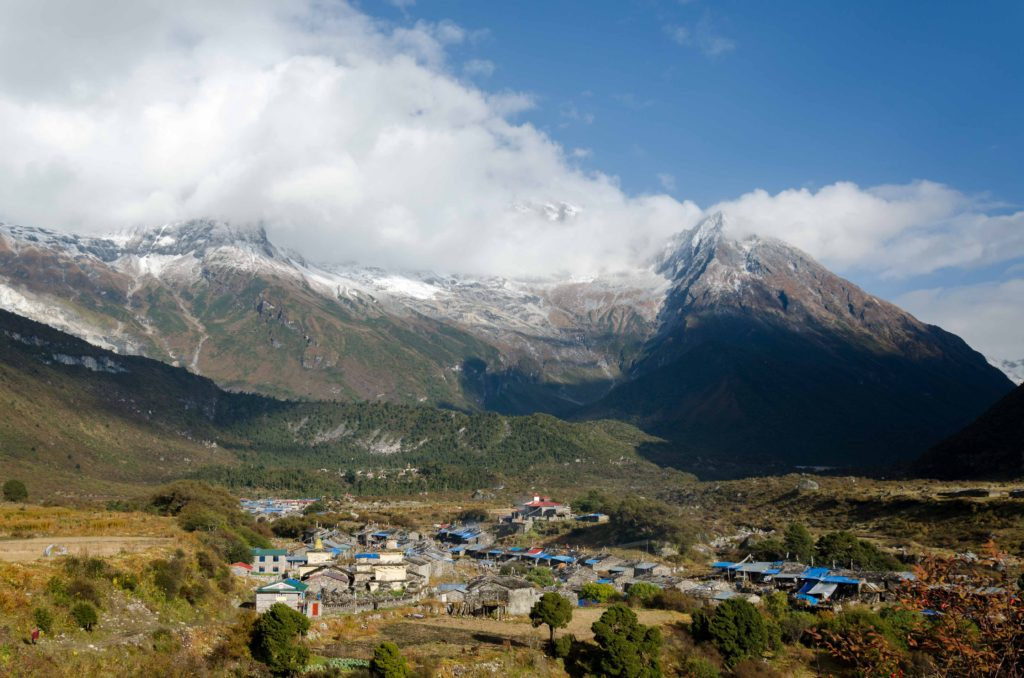 Samagaun. Our base camp for 2 nights. We took a trips from here to Punguyan gompa and Manaslu Base Camp.