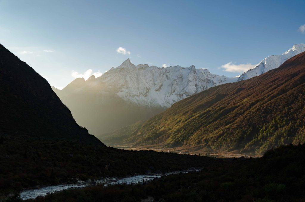 The trek from Samagaun to Samdo. The entire Manaslu trek is in a valley. It's just changing from narrow, to a wide one, to a meadow, to plateau, to a pass. But basically you are always in between mountains. Valley.