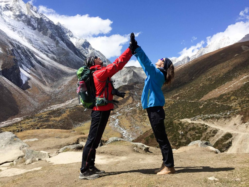 Gate keepers to Larke Pass, at 5 106 the highest point of the trek. Manaslu, Nepal.