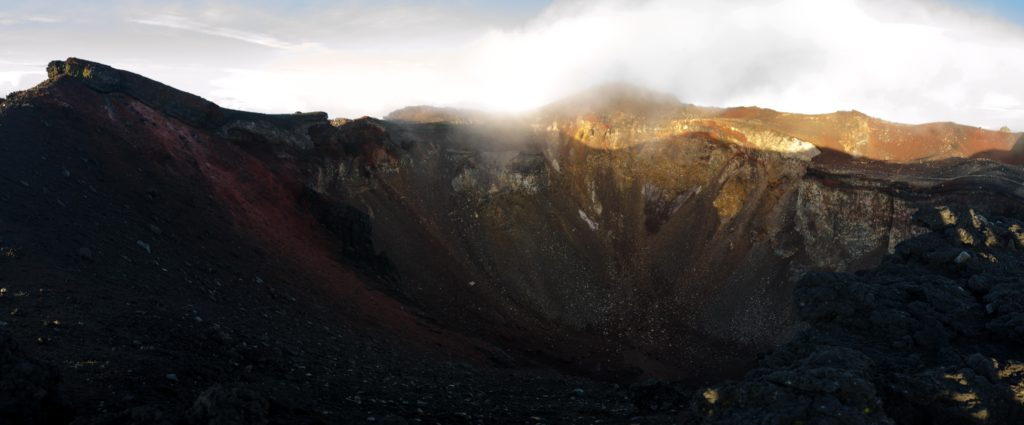 A morning walk around the crater. Bigger than we thought. It took us 2 hours to complete.